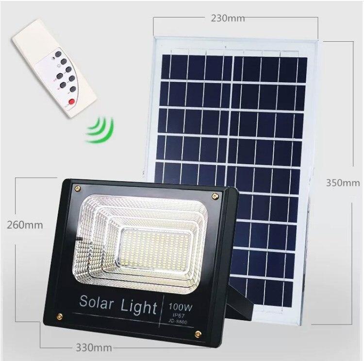 Foco luz LED Solar 8 Uds 10W/25W/40W/60W/100W/120W reflector de Control de luz Tuinverlichting farola impermeable IP67