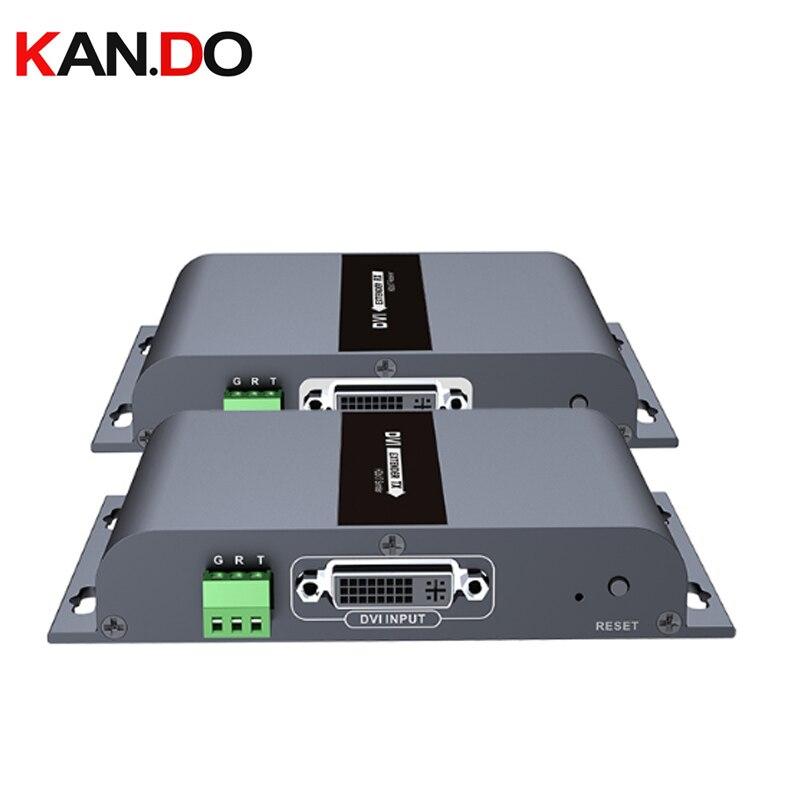 Adaptateur jusquà 394ft 120m dvi HDbitT   Prolongateur avec Audio over simple CAT5/5e/6 1080P over IP CAT6, transmission vidéo