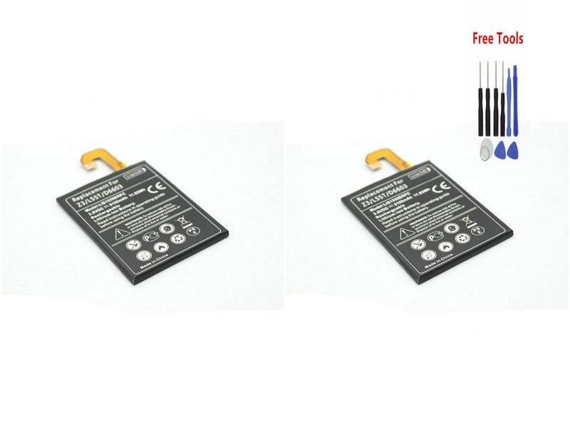 2x 3100mAh / 11.8Wh LIS1558ERPC Replacement Battery For Sony Z3 Z 3 L55T L55U D6653 D6603 D6633 D6708 D6643 D5803 D5833 + Tool