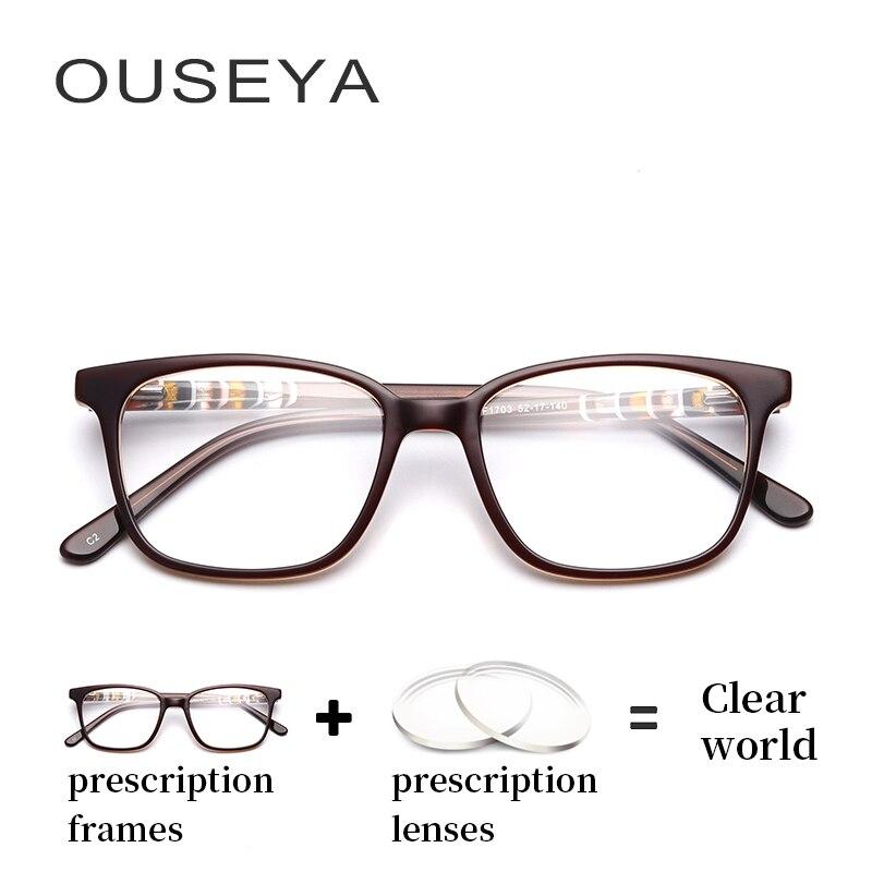 Gafas óptica Retro de acetato para mujer, gafas clásicas Retro asféricas de astigmatismo clásicas de transición, gafas delgadas para PC # F1703