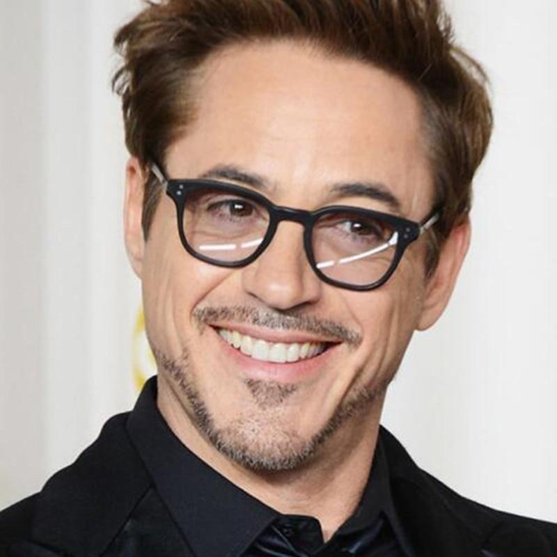 Robert Downey Sunglasses Fashion Retro Men Sun Glasses Tony Stark 2019 Acetate Frame Women Eyewear gafas de sol zonnebril heren
