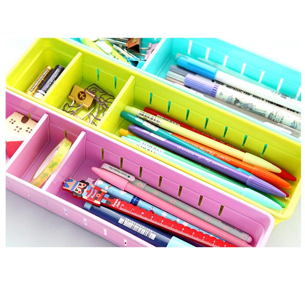 Dropshipping cajón ajustable cubertería divisor caja de almacenamiento de maquillaje organizador del hogar