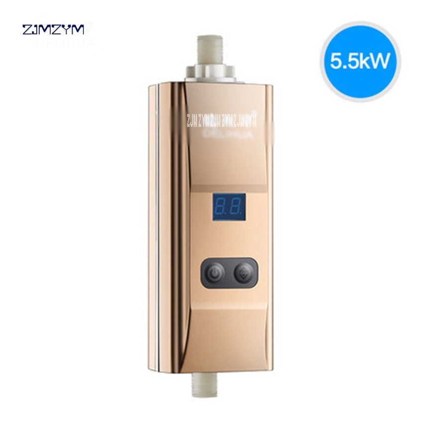 Grifo de agua caliente con entrada de flujo inferior de DLH-RM02, calentador de agua eléctrico de cocina instantáneo sin tanque, grifo de calefacción, calentador de baño de ducha
