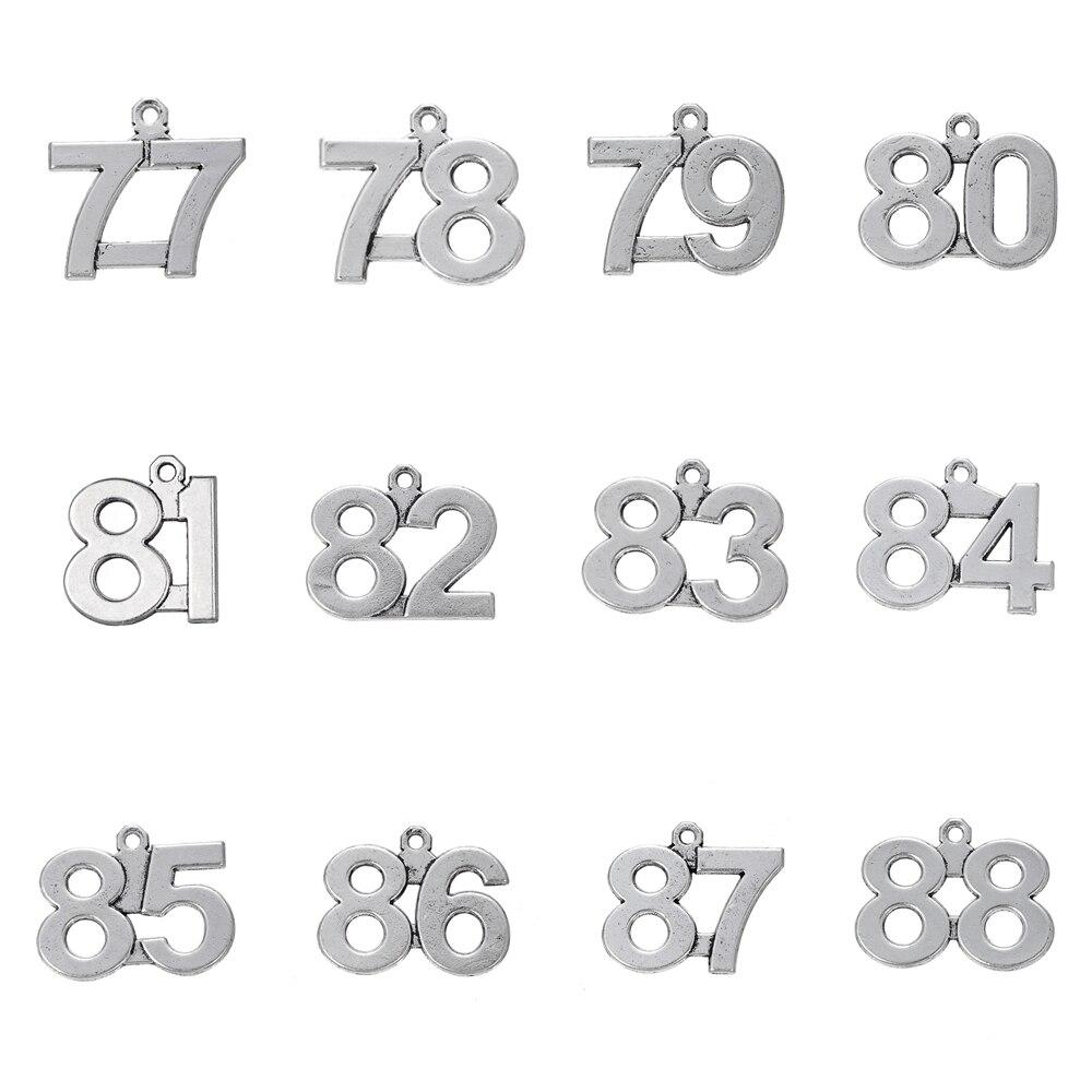 RAINXTAR модные подвески из сплава с номером 77-88 горячие подвески в виде цифр на день рождения 20 шт AAC1731-7