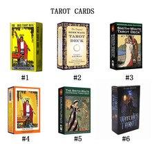 Inglês 78 folhas/conjunto tarô cartões de baralho leia o mítico destino adivinhação para jogos de cartas da fortuna jogo de tabuleiro