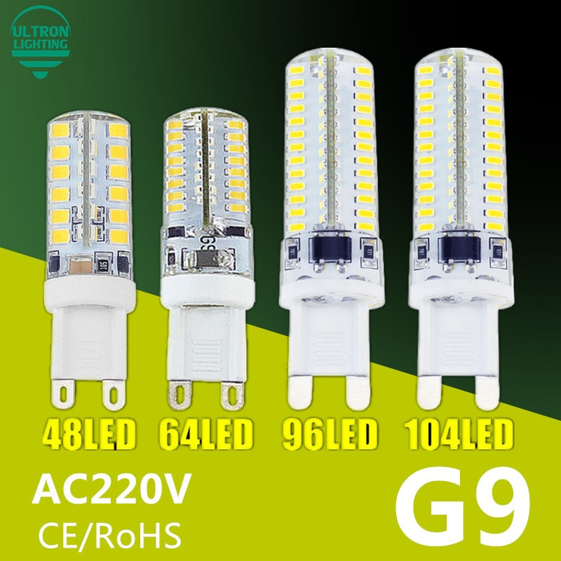 G9 светодиодный светильник 7 Вт 9 Вт 10 Вт 11 Вт кукурузная лампа AC 220 В SMD 2835 3014 48 64 96 104 светодиодный светильник с лампадой светодиодный светильник 360 градусов Замена галогенной лампы