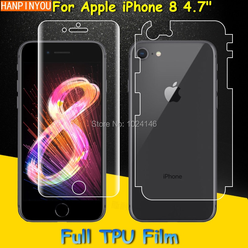 Front / Back Full Coverage Clear Soft TPU Film Screen Protector For Apple iPhone 8 4.7