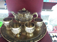 Manufacturers selling 100% Genuine Bronze sculpture, Bronze tea set wine unique crafts 268