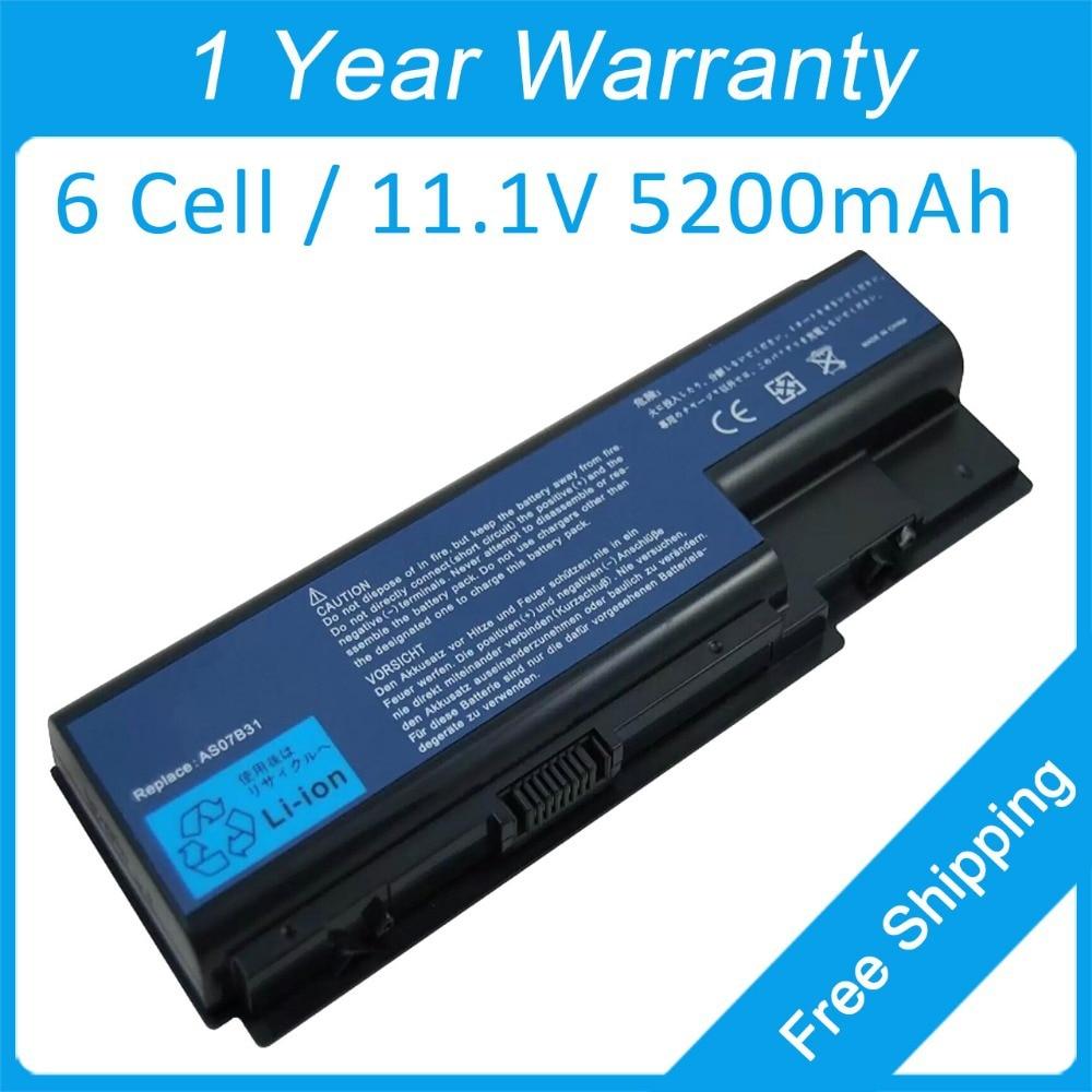 Nova bateria laptop 6 celular para acer Extensa 7230 7630 7630Z 7230E 7630EZ 7630ZG 7630 G AS07B71 AS07B32 AS07B51 frete grátis