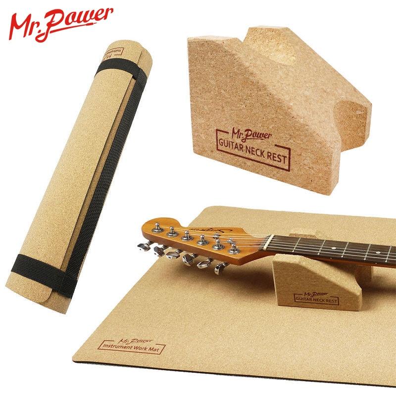 مستر باور-وسادة رقبة للجيتار ، وسادة رقبة مع دعم ، سجادة جيتار ، أداة إعداد ، إصلاح ، 8 Z
