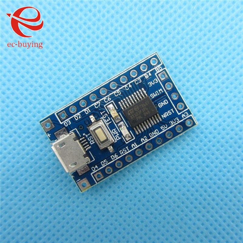 10 unids/lote brazo STM8 Placa de desarrollo mínimos del sistema STM8S103F3P6 módulo para Arduino