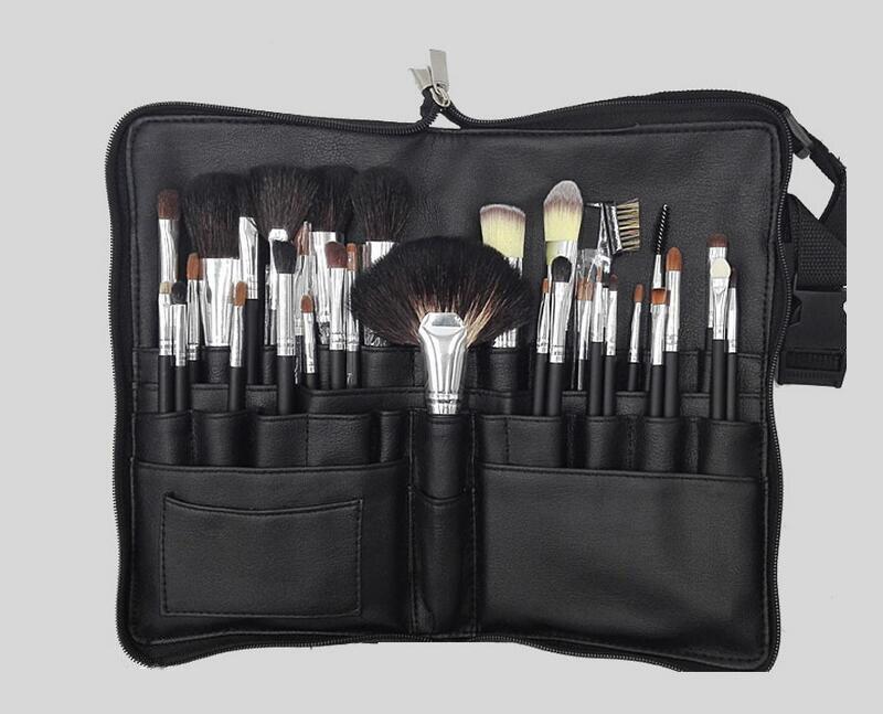 pro cabelo de cabra 32 pces conjunto de escovas de maquiagem alta qualidade compoem