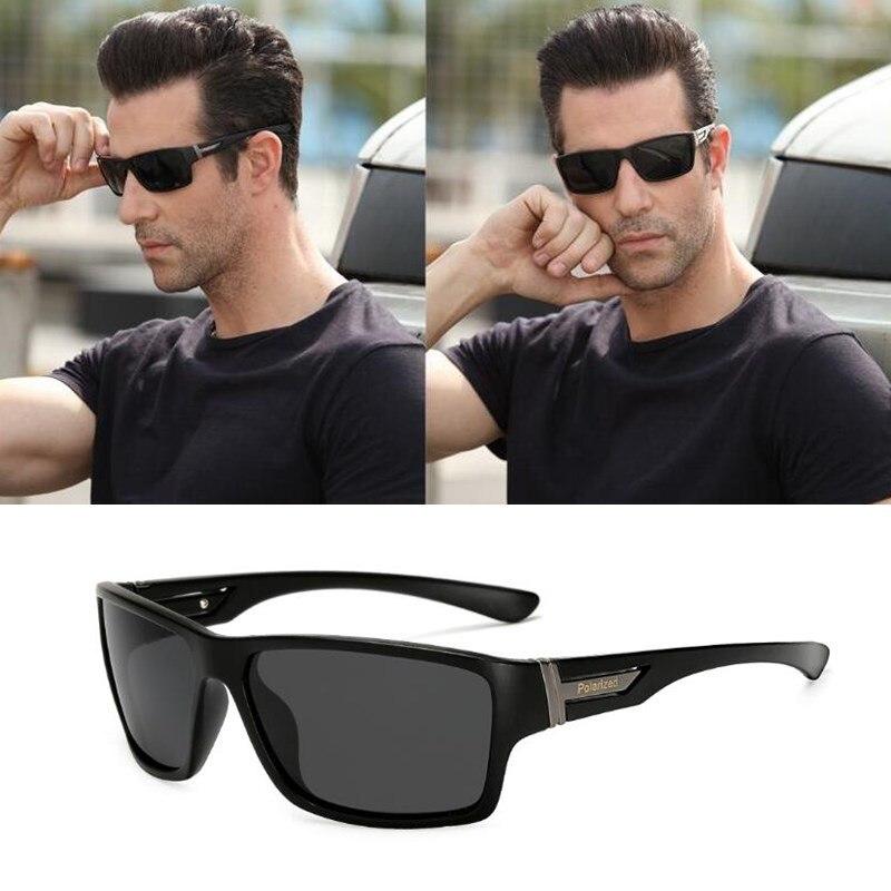 Esporte óculos de sol polarizados de alta qualidade marca luxo uv400 preto azul espelho óculos de sol óculos de condução quadrados gafas sol