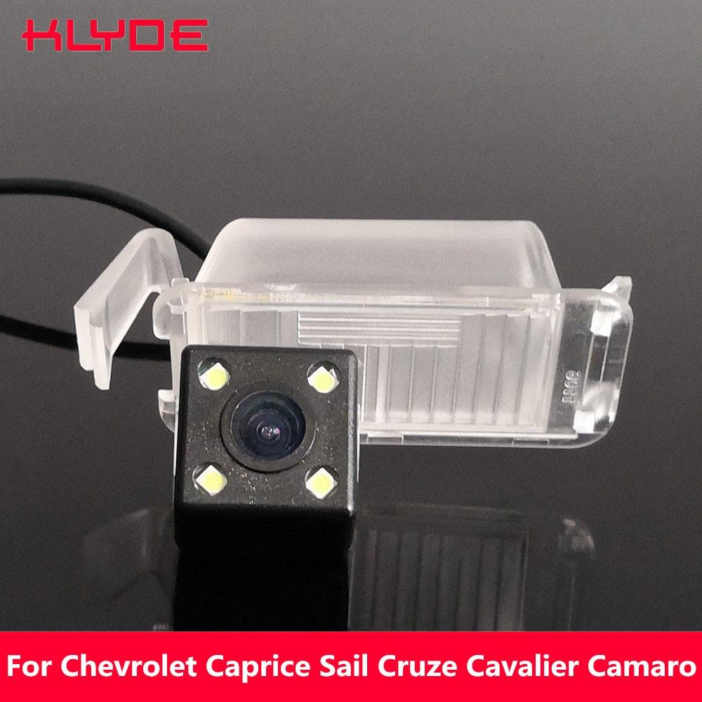 Cámara de visión nocturna inversa HD CCD de KLYDE para Chevrolet Caprice Sail Cruze Cavalier Camaro Bumblebee Holden
