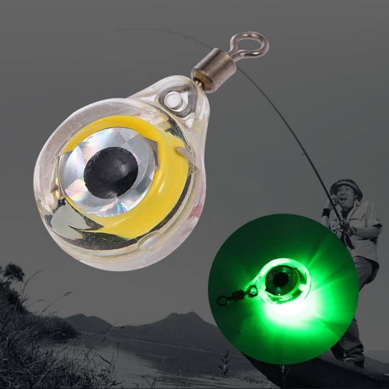 5 видов цветов мини-рыболовная легкая маленькая осветительная 6 см/2,4 дюйма светодиодная глубокая капля подводная форма для глаз рыболовная ...