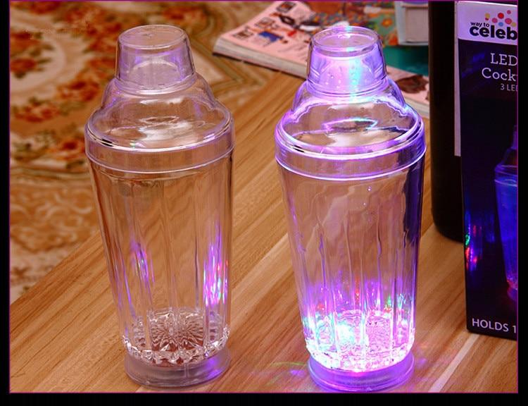 1 unidad de coctelera LED iluminada, herramientas de Bar, utensilios de Bar parpadeantes, suministros de fiesta OK 0429