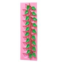Free Shipping Leaf Shaped Cake Lace Mold Sugar Cake Tool Bakeware DIY Silicone Mold Fondant Cupcake Mold A1167