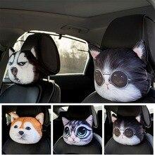 Cartoon Car Pillow Auto Headrest Seat Neck Pillow 3D Animal Car Styling Neck Rest Cushion Head Neck Support Pad Car Accessories