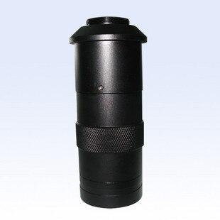 Microscópio de Vídeo Industrial Mini Pequeno Único Tubo Lente 130x Zoom Contínuo Microscópio Cabeça