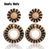 neefu wofu glass earrings brand earrings for woman charm dangle brinco christmas ear accessories oorbellen