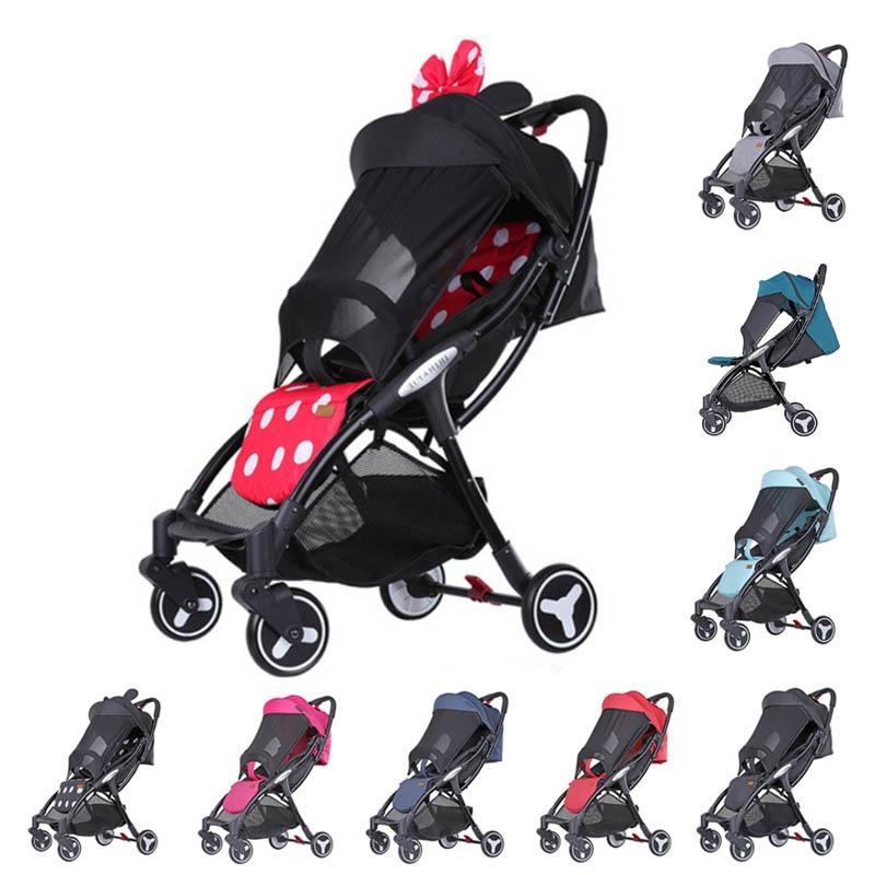 Yoya Mini cochecito ligero Bebe carro portátil cochecito plegable para bebé carrito de bebé gran toldo una operación con
