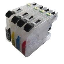 Lc563 bk cmy cartuccia di inchiostro riutilizzabile per stampante brother mfc-j2510 mfc-j2310 mfc-j3720 mfc-j3520 permanente circuito integrato del ripristino automatico