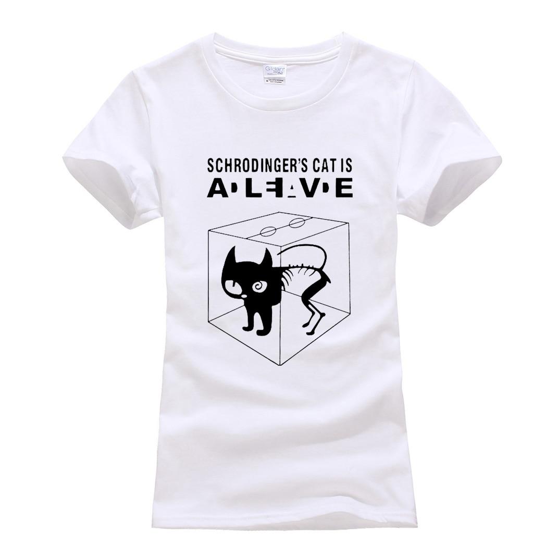 Женские хлопковые футболки с коротким рукавом camiseta, забавные повседневные футболки с кошкой Schrodinger, летняя футболка Большого взрыва, 2019