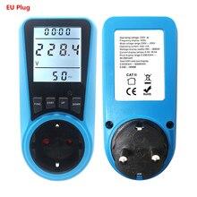 Измеритель мощности переменного тока с европейской вилкой, цифровой счетчик мощности, счетчик энергии, измеритель времени, напряжение тока, цена, дисплей, анализатор гнезда
