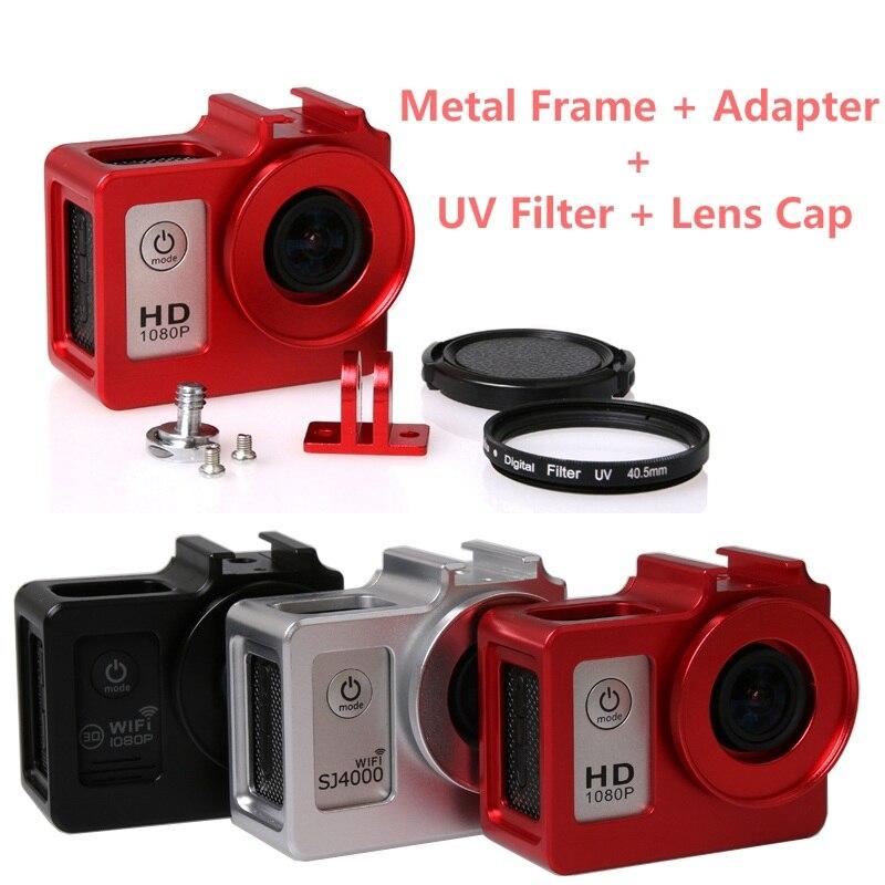 Clownfish كاميرا سبيكة قفص الغلاف الواقي غطاء حقيبة إطار معدني + UV تصفية ل SJCAM SJ4000 SJ5000 H9 SJ7000 SJ9000 C30
