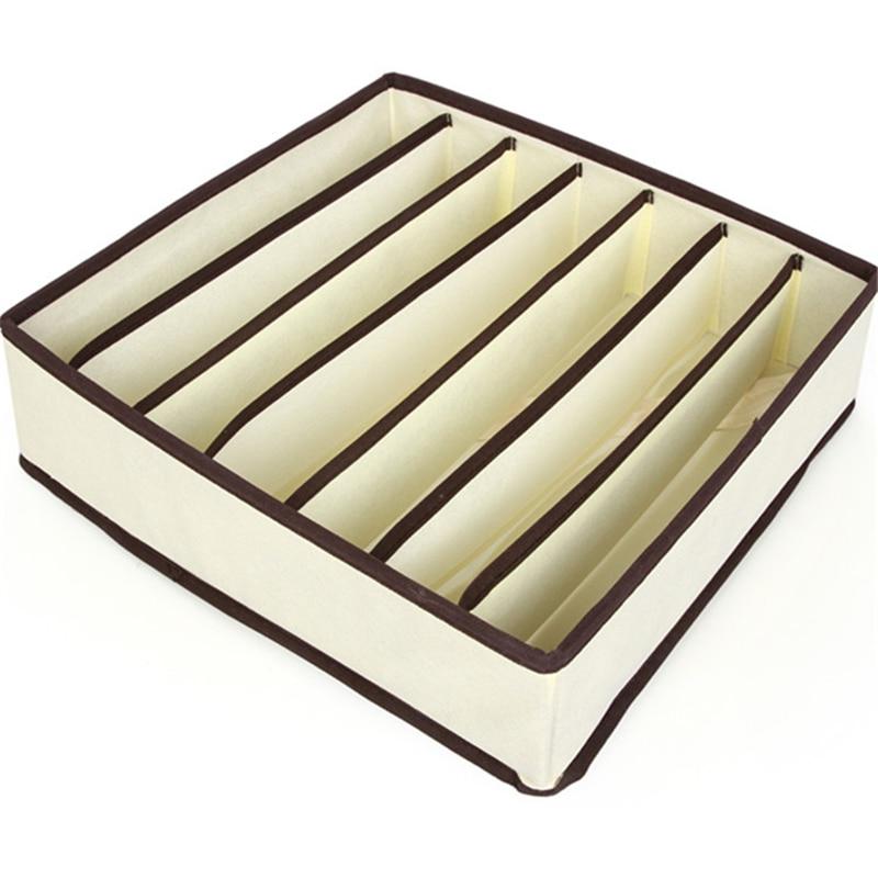 4 pcs set kotak penyimpanan penganjur beige organizer box untuk - Organisasi dan penyimpanan di dalam rumah - Foto 5