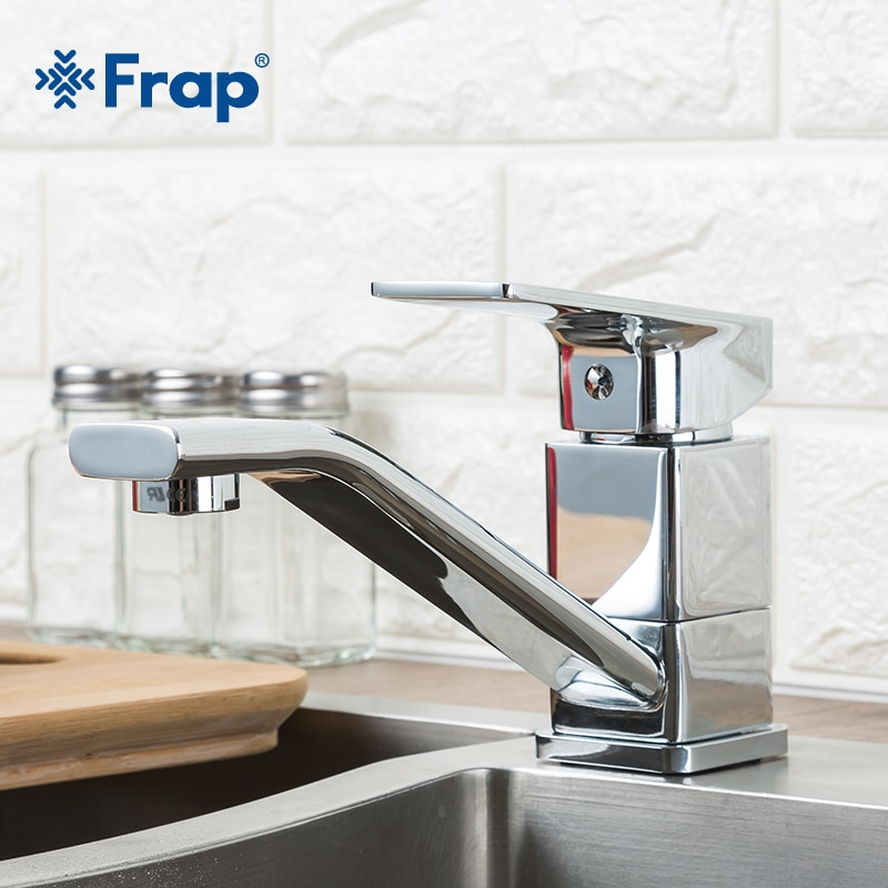 FRAP الحديثة نمط المنزل متعددة اللون المطبخ بالوعة صنبور الباردة والساخنة المياه خلاط صنبور صنبور مياه للمطبخ بمقبض واحد الحنفيات F4546