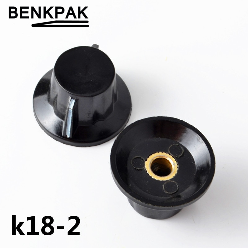 K18-2 WTH118 WX112 WX111 baquelita botón potenciómetro sombrero cobre núcleo 6MM orificio de oreja