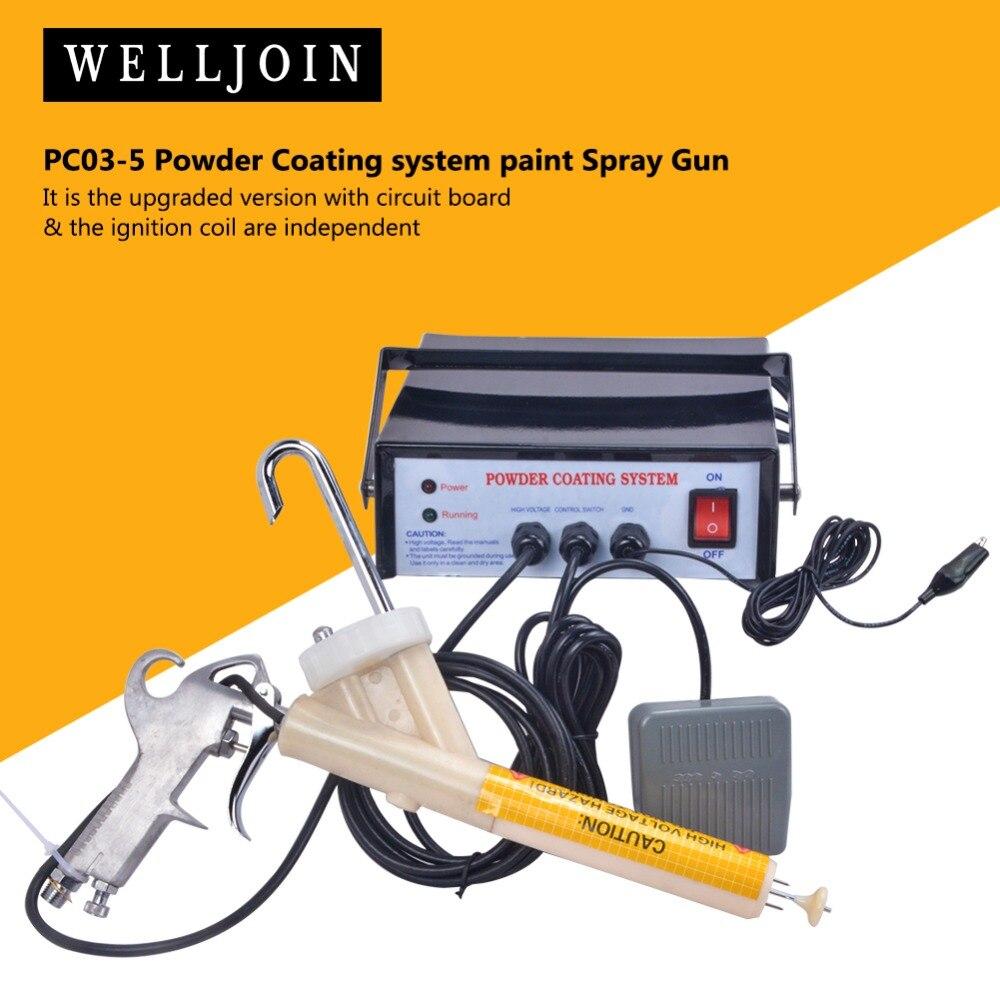 Sistema de recubrimiento en polvo electrostático portátil Original PC03-5 110 V/220-240 V CE