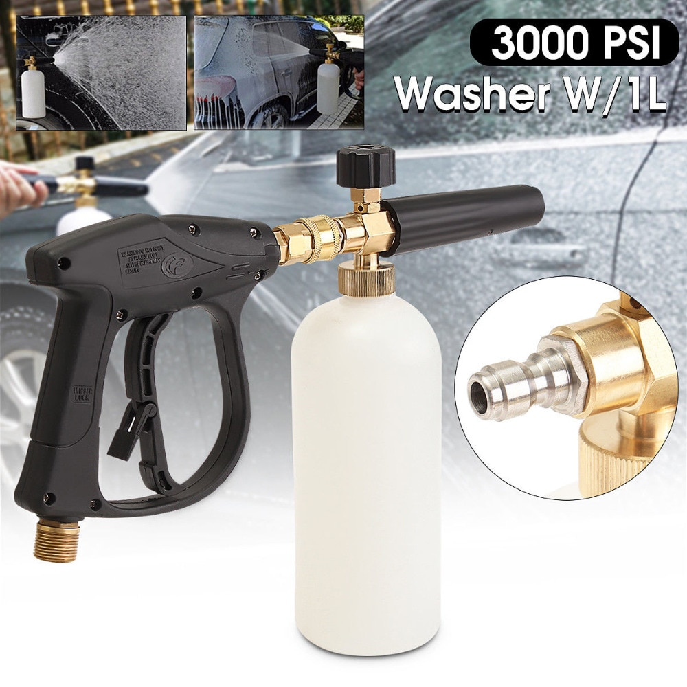 1L 3000PSI High Quality Foam Gun High Pressure Washer Snow Foam Lance Sewer Brush Fittings Clean Gun