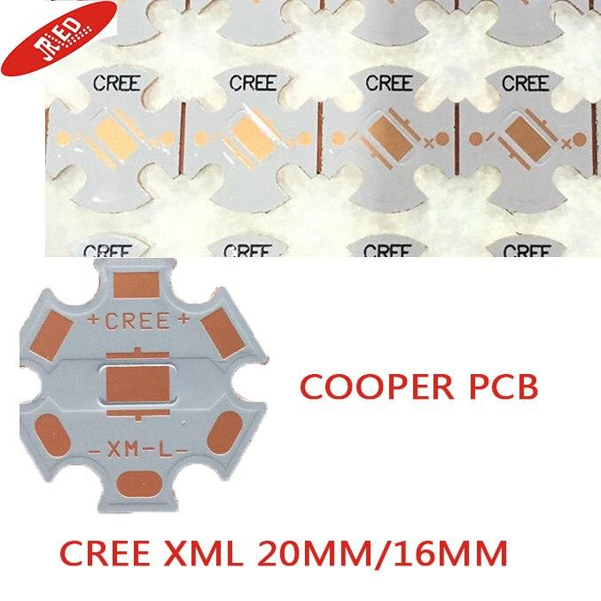 20mm/16mm cree xml/xml2 t6 u2 led cooper pcb/cooper grundplatte/schaltung board/cooper led-platine 20 teile/los