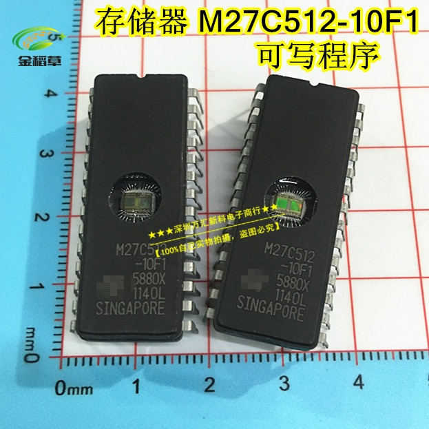 Envío gratis 10 Uds nuevo ST M27C512-10F1 27C512 DIP-28 circuito integrado EPROM CHIPS conducir IC