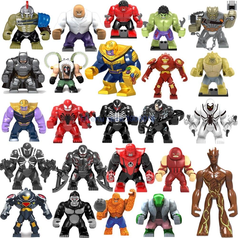 Grandes figuras marvel vingadores endgame thanos veneno carnificina energia hulkbuster luvas batman homem de ferro tijolos blocos de construção brinquedos