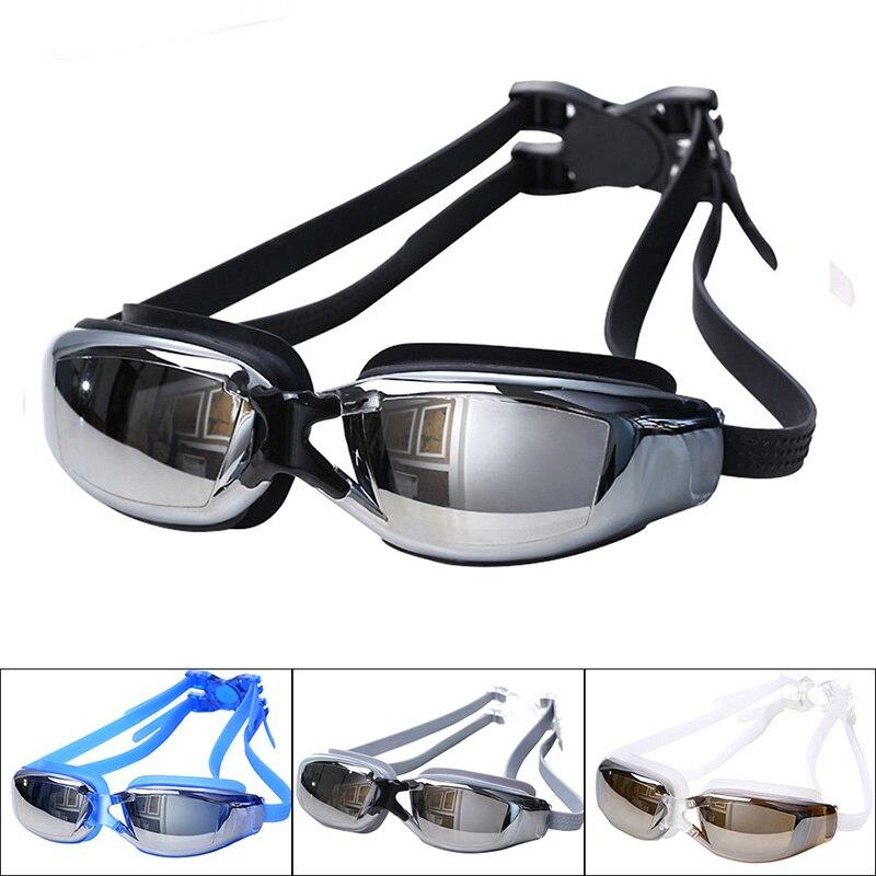 Водонепроницаемые очки для плавания с защитой от УФ-лучей, регулируемые очки для взрослых на ремешке, мужские и женские очки для плавания