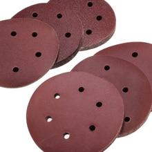60pcs 6inch 150mm 8 Hole polishing Sanding Disc Sandpaper 60 - 320 Mixed Grit UK