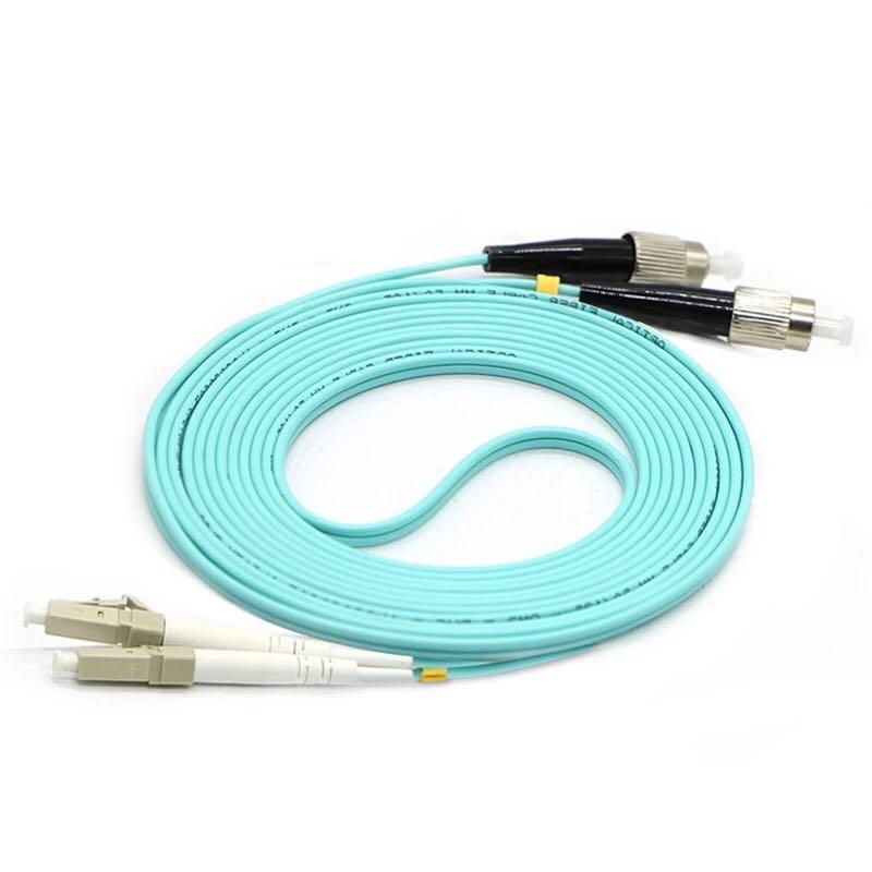 5 unids/lote OM3 FC/UPC-LC/UPC Cable de fibra multimodo OM3 Cable de conexión de puente de fibra óptica dúplex multimodo 3M 5M 10M 15M