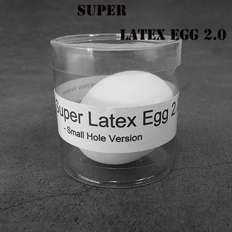Супер латексное яйцо, версия 2,0-Small Hole (1 шт./Чехол), волшебные трюки, настоящие Волшебные яйца, сценические иллюзии, забавные аксессуары