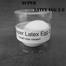Super Latex Egg 2,0-Versión de agujero pequeño (1 pc/funda) trucos de Magia huevo de aspecto Real Magia etapa ilusiones gimwick accesorios divertidos