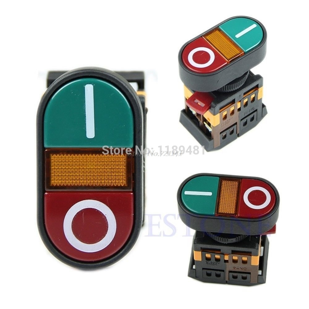 Red Green Light Indicator Momentary Switch Power Start Stop ON OFF Push Button Dropship