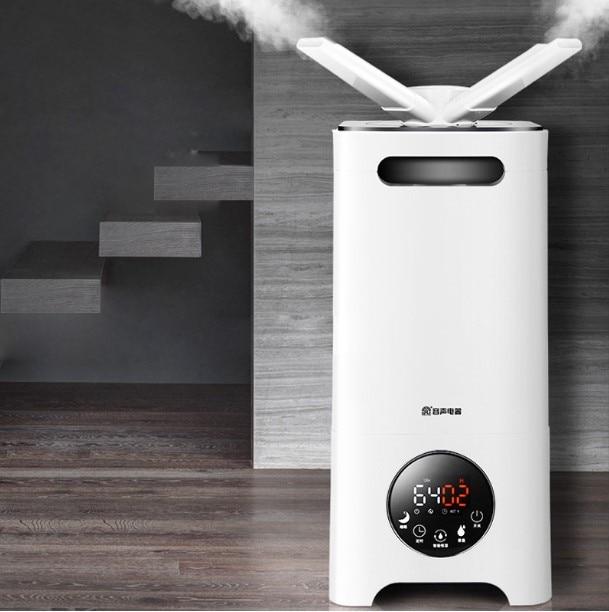 Humidificador de vapor de aire LK165 de poco ruido 13L/D, boquilla para todas las direcciones, humidificador de aire de carbón activado, freidora de vegetales de supermercado