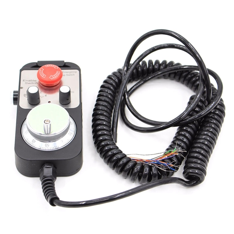 Universal Cnc 4 Achsen Mpg Anhänger Hand Rad 100 Puls 5 V & Notfall Stop Cnc Router Handrad 4 Achse typ