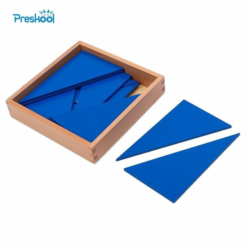 Juguete para bebé Montessori, triángulo azul, juguete de madera para preescolar temprana, Juguetes para niños, Juguetes