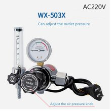 WX-503X220 co2 레귤레이터 220 v co2 가스 히터 가스 압력계 mig tig 용접 레귤레이터