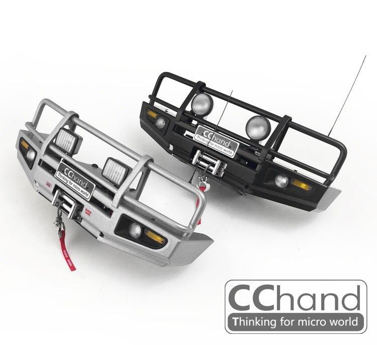 Parachoques delantero de metal CChand para RC4WD 1/10 ARB-DELUXE, chasis de TF2-LWB + killerbody TOYOTA LC70