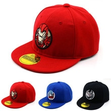2019 garçons filles soleil chapeaux nouveau Ironman dessin animé broderie coton casquettes de Baseball enfants Snapback Hip Hop chapeau Gorras os casquette