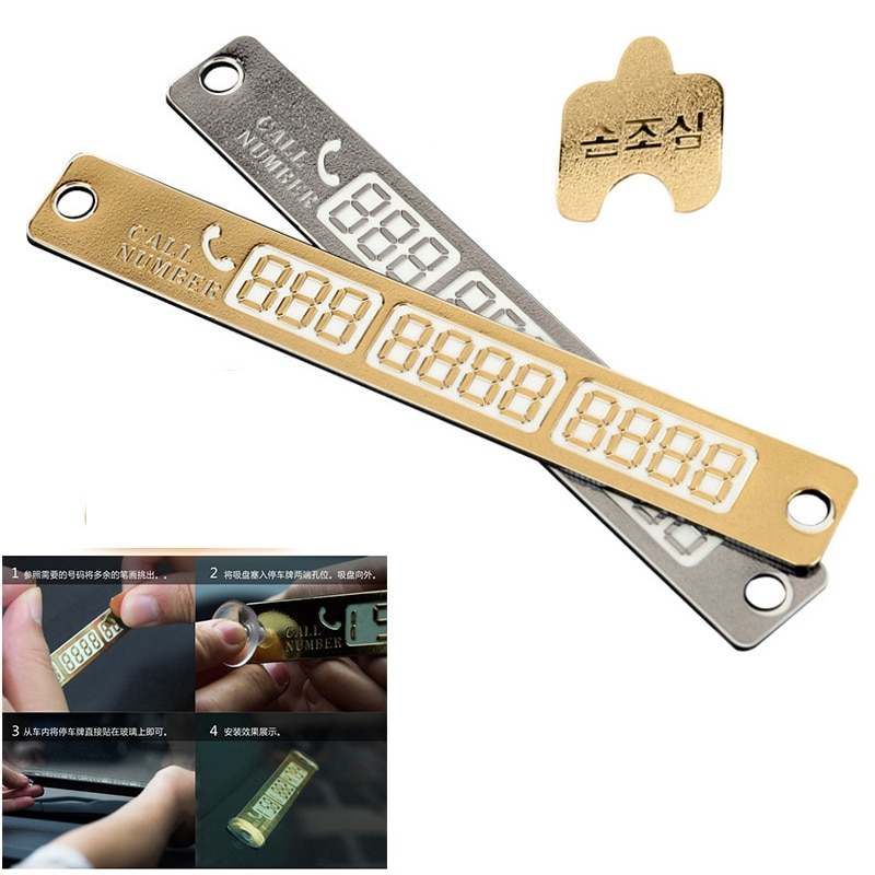 Auto-Styling Luminous Telefon Nummer Parkplatz Karte Aufkleber für Honda Civic Accord Fit CRV HRV Stadt Infiniti q50 FX35 g35 Zubehör